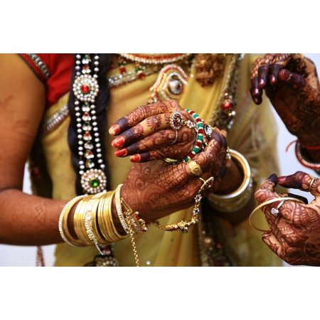 Canvas Print Wedding Ring Mehandi Kangab Stretched Canvas 10 x