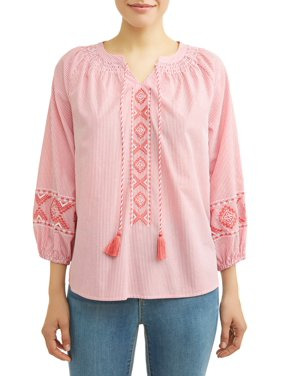 30cef16f88bee Product Image Women s Embroidered Smock Neck Top