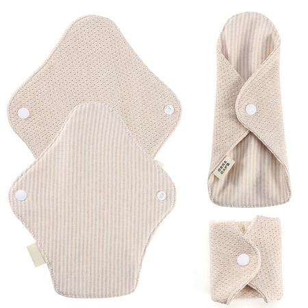 Reusable Cotton Cloth Washable Menstrual Pads Mama Sanitary Towel Pad Panty Liners, Pack of