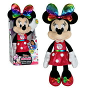 Disney Junior Minnie Mouse Sparkle & Sing 13-Inch Feature Plush, Plush Simple Feature, Ages 3 Up, by Just Play