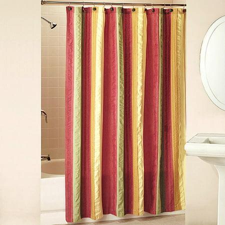 Seersucker Shower Curtains And Hooks Set