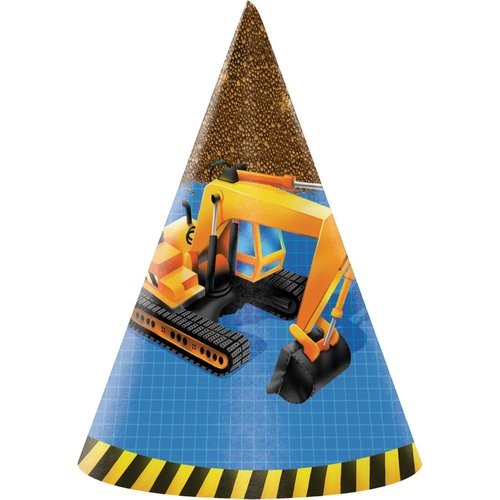 Creative Converting Under Construction Hat Paper Disposable Party Favor (Set of 24)