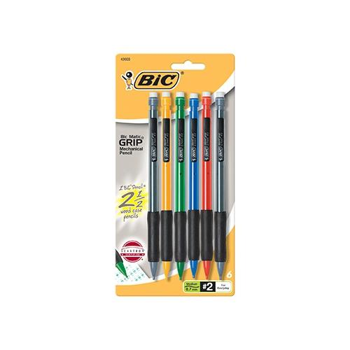 BIC MATIC GRIP 6PK ASST MECHANICAL SCBBICMPGP61-9 (pack of 9)