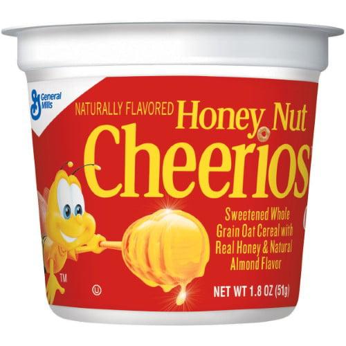 Honey Nut Cheerios Cup Breakfast Cereal (Pack of 4)