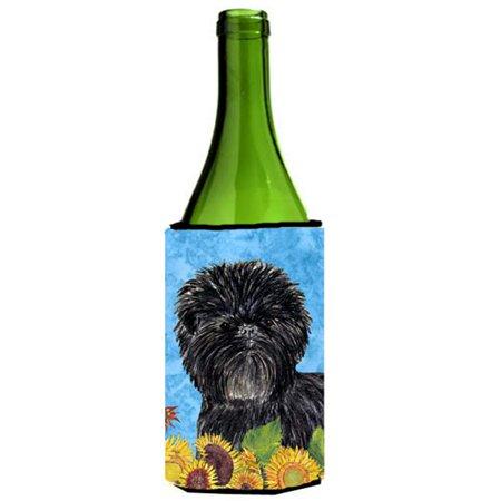 Affenpinscher In Summer Flowers Wine bottle sleeve Hugger - 24 oz. - image 1 de 1