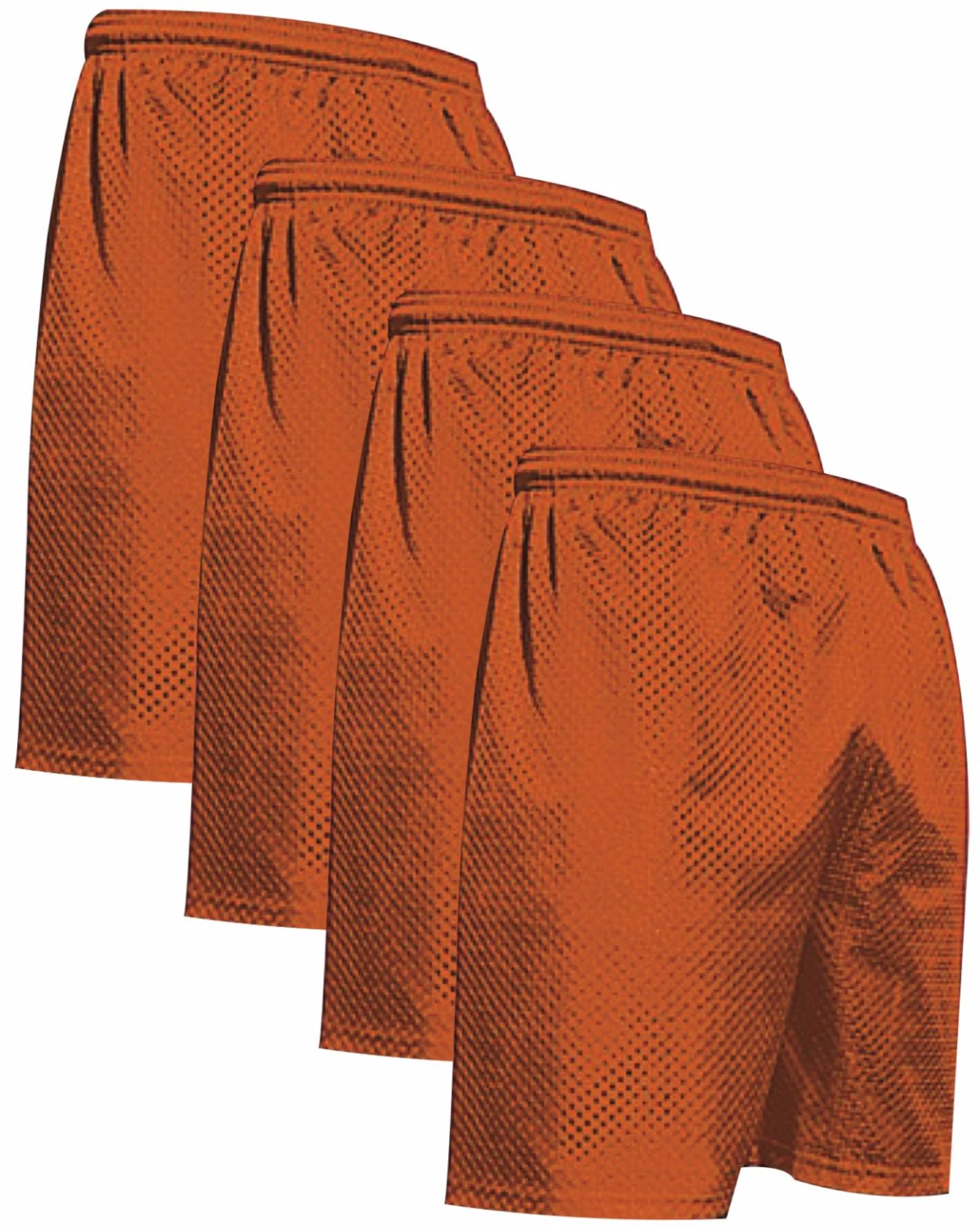 """VALUE PACK  > BUY 2 GET 2 FREE >  4 PACK > THE RAM BRAND > Men's  9"""" Performance Pro Mesh Gym Champ Shorts (XS-4XL) $10 S/H is on the 1st Pack only. In this Pack: (2XL)(4Orange)"""