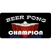 Beer Pong Champion License Plate