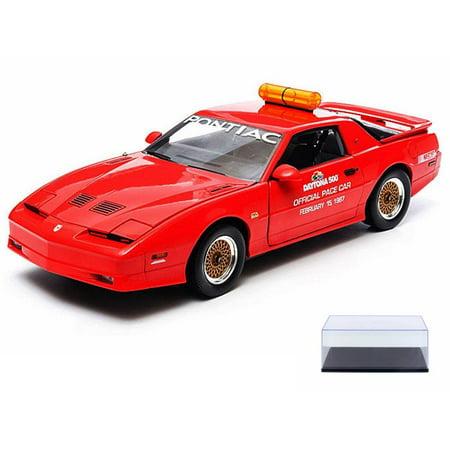 Diecast Car & Display Case Package - 1987 Pontiac GTA, Daytona 500 Pace Car, Red - Greenlight Nascar 12858 - 1/18 Scale Diecast Model Toy Car w/Display Case](Gta 5 Halloween Cars Price)