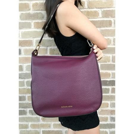 10ce6998c74db8 michael michael kors raven large leather shoulder bag, purple - Walmart.com