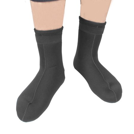 Black Neoprene Snorkeling Scuba Dive Diving Socks Boots Booties Pair