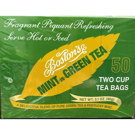 Boston's Mint -in- Green Tea 50ct Box (Best Tea In Paris)