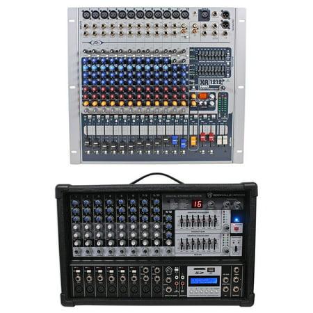 (Peavey XR1212 12 Channel Mixer w/ 2 600w Amplifiers XR 1212 XR1212P+Free Mixer !)