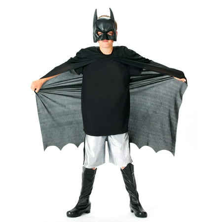 Kids Batman Mask and Cape Kit - Dark Knight Rises - Batman Cape And Mask For Adults