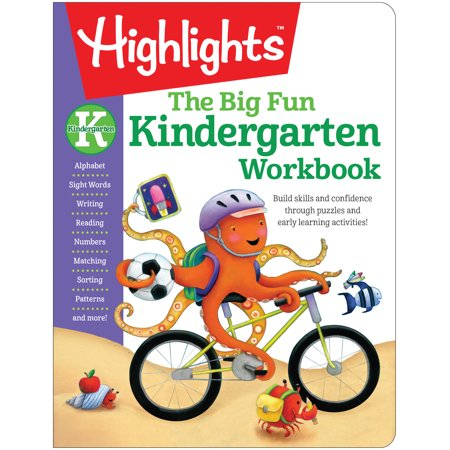 The Big Fun Kindergarten Workbook: Build Skills and Confidence Through Puzzles and Early Learning Activities! (Paperback) - Life Skills Workbooks