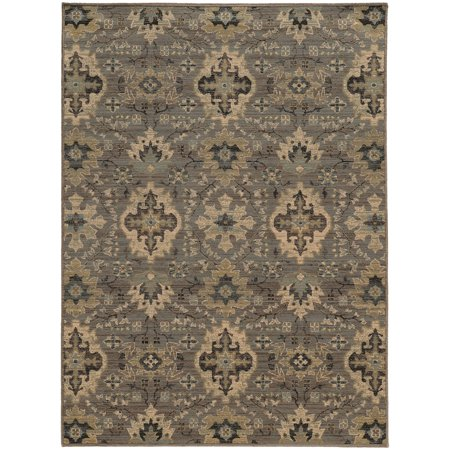 Style Haven Heirloom Floral Ikat Wool Area Rug - 3'10  x 5'5  A beautiful dense, low pile machine woven construction of premium wool that creates the look and feel of antique hand-knotted rugs. This showcases distressed, vintage patterns in subtle, cool grays and shades of blue.Machine-wovenPrimary materials: 100-percent woolLatex: NoPile height: 1 inchStyle: TraditionalPrimary color: BeigeSecondary colors: Black, grey, goldPattern: OrientalTip: We recommend the use of a  non-skid pad to keep the rug in place on smooth surfaces.All rug sizes are approximate. Due to the difference of monitor colors, some rug colors may vary slightly. Overstock.com tries to represent all rug colors accurately. Please refer to the text above for a description of the colors shown in the photo.Tip: We recommend the use of a  non-skid pad to keep the rug in place on smooth surfaces.All rug sizes are approximate. Due to the difference of monitor colors, some rug colors may vary slightly. Overstock.com tries to represent all rug colors accurately. Please refer to the text above for a description of the colors shown in the photo.Tip: We recommend the use of a  non-skid pad to keep the rug in place on smooth surfaces.All rug sizes are approximate. Due to the difference of monitor colors, some rug colors may vary slightly. Overstock.com tries to represent all rug colors accurately. Please refer to the text above for a description of the colors shown in the photo.