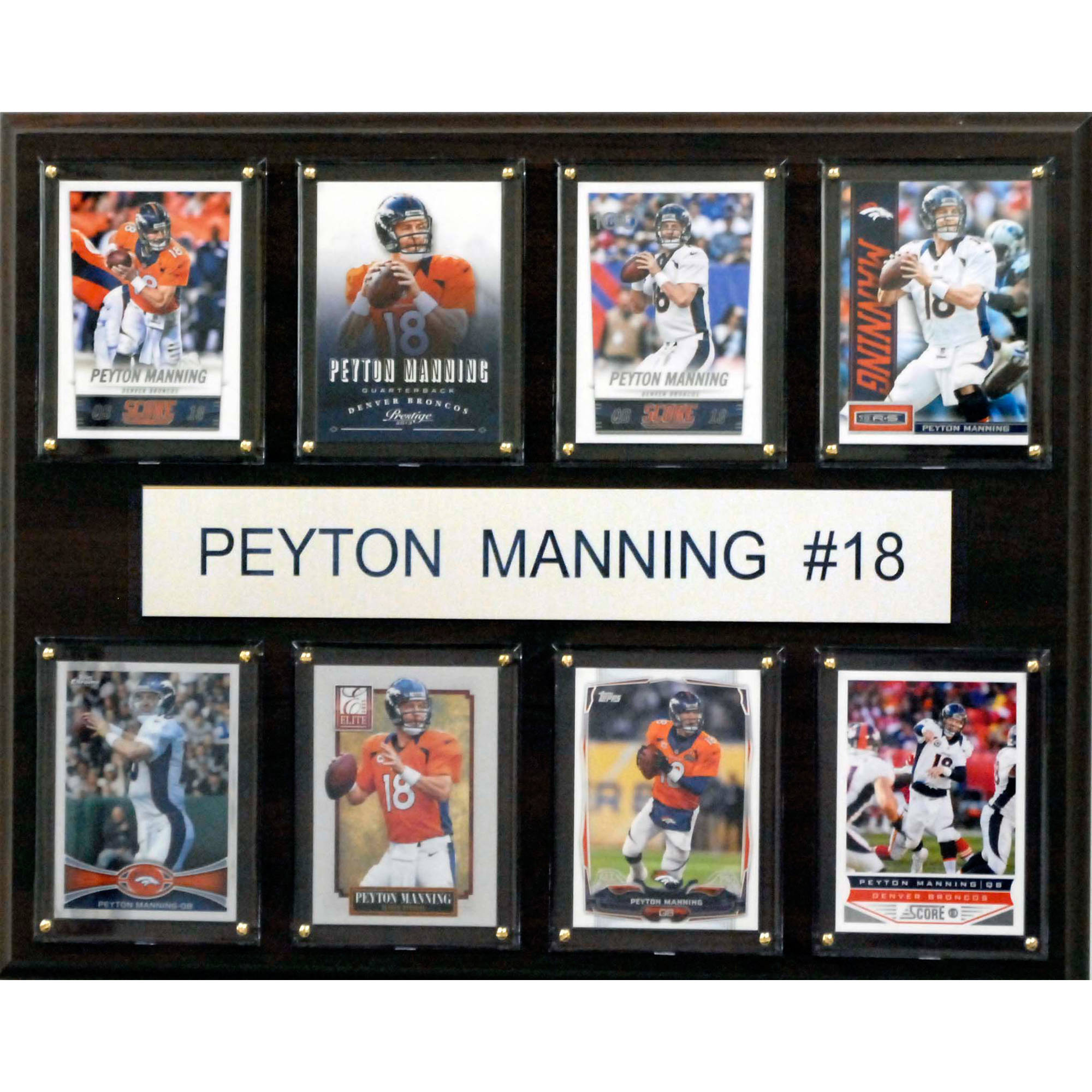 C&I Collectables NFL 12x15 Peyton Manning Denver Broncos 8-Card Plaque