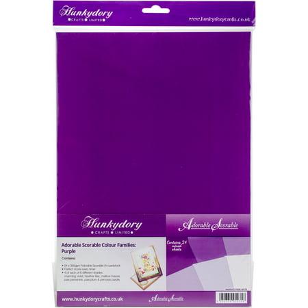 Hunkydory Adorable Scorable A4 Cardstock 24/Pkg-Purple Tones - image 1 de 1