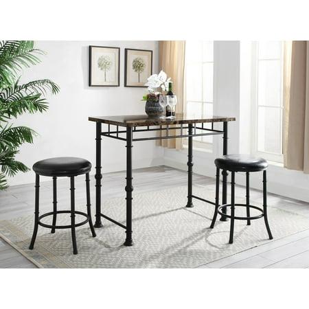 Brilliant Linon Dalton Pub Set Machost Co Dining Chair Design Ideas Machostcouk