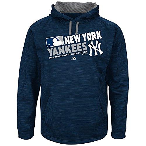 MLB Men's Big and Tall On-Field Team Choice Streak Therma Base Fleece Hoodie (3XT, New York Yankees) by Profile