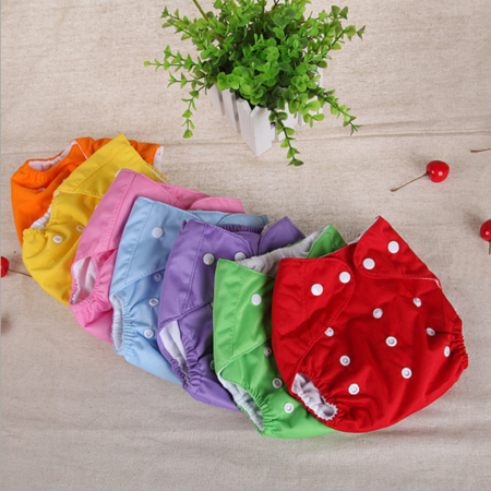 3Pack One size Cloth Diaper double hip snaps 6pcs Pack Fitted Pocket