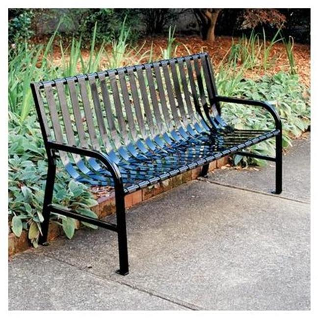 Witt Industries M6-BCH-SLV Stadium Series SMB Slatted 6 ft. Metal Bench - Silvadillo