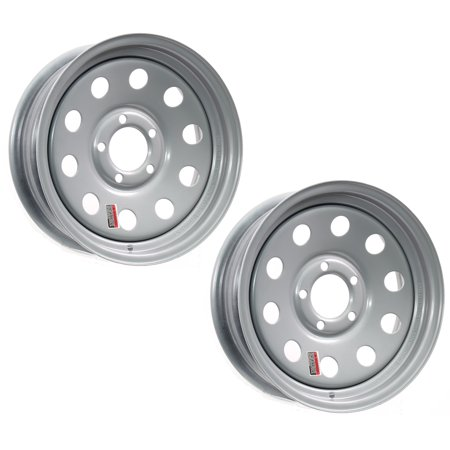 2-Pack Trailer Rims 15x6 15 x 6 in. Modular 5 Bolt Hole 4.5 in. OC AR