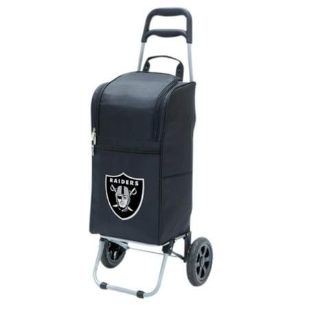 Picnic Time Cart Cooler  Black Oakland Raiders Digital Print