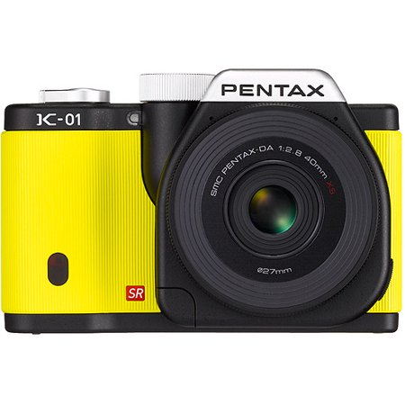 Pentax Imaging 15372 K01 Dig Cam 16MP 2 Lens-Yellow
