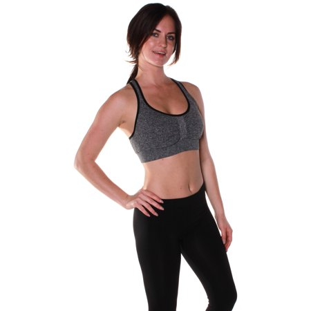 Pretty Crossover (Emmalise Athletic Performance Exercise Sports Bra with Crossover Back)
