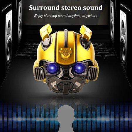 Bumblebee Helmet Wireless Speakers Stereo Loud Speakers FM Radio Mp3 Speaker - image 3 of 6