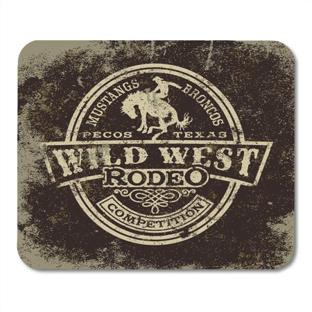 KDAGR Cowboy Wild West Rodeo Vintage for Boy Wear Effect in Separate Layers Western Mousepad Mouse Pad Mouse Mat 9x10 inch