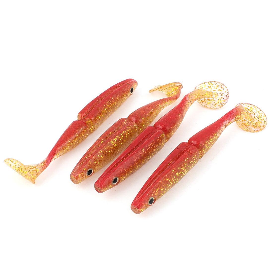 Unique Bargains 4 Pcs 5.5 Soft Silicone Fishing Lure Fish Tackle Bait 2.9oz by Unique-Bargains