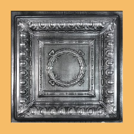 Asiago Antique Silver Black PVC Ceiling Tiles for Drop in Grid System (10 pack)