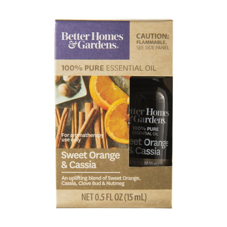Better Homes & Gardens 15 mL 100% Pure Sweet Orange & Cassia Essential Oil - Sweet 15 Themes