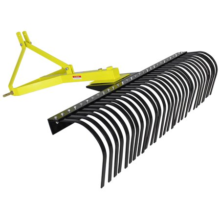 - Landscape Rock Rake 3 Point Soil Gravel Lawn Tow Behind Compact Tractor 4ft York