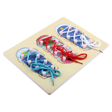 Yosoo New Type Wooden Tie Shoe Lacing Threading Board Matching