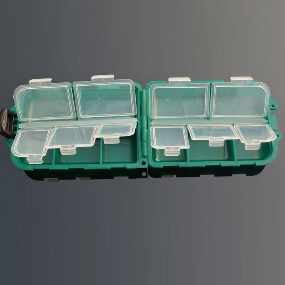 10 Grid Fishing Gear Box Bait Bait Hook Storage Small Box Hook Box by