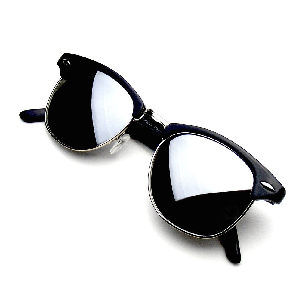 Emblem Eyewear Premium Horn Rimmed Style Sunglasses