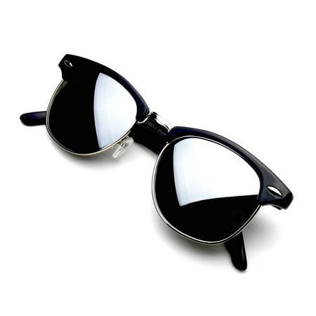 302fa01f5d Emblem Eyewear - Emblem Eyewear - Premium Half Frame Horn Rimmed Sunglasses  Metal Rivets Sun Glasses Eyewear - Walmart.com