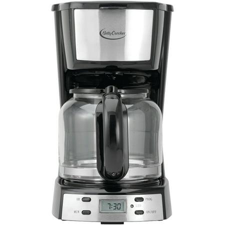 Betty Crocker 12-Cup Stainless-Steel Coffee Maker
