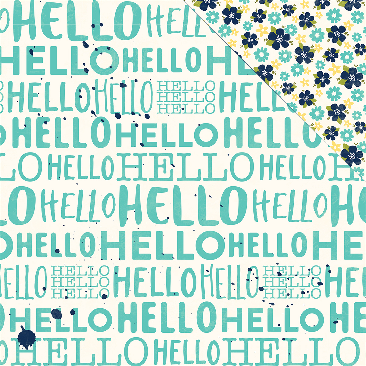 "Healthy Hello Double-Sided Cardstock 12""X12""-Jambo - Case Pack of 25"