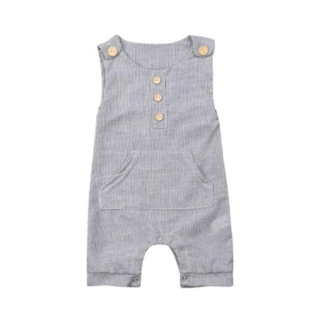- Newborn Infant Baby Boy Girl Striped Sleeveless Romper Jumpsuit Shorts Playsuit Outfit