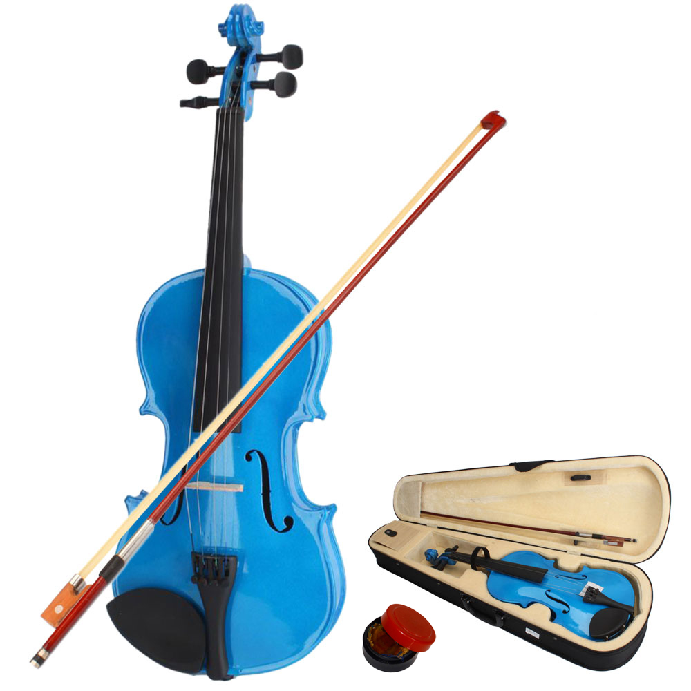 Zimtown 1/8 Size Handcrafted Solid Wood Violin with Bow, Rosin, Case for kids who are 4-5 years old