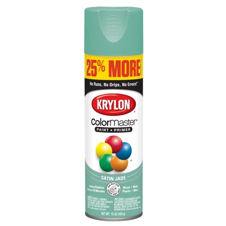Krylon® ColorMaster Paint + Primer Satin Jade Green, 15-Oz