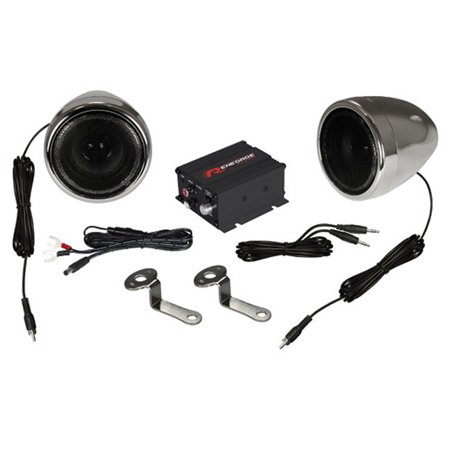 Renegade Motorcycle Kit Speaker and Amplifier 100W Max Chrome