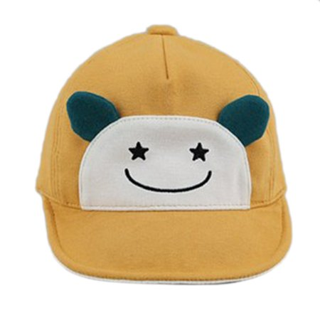 - Cute Children Baseball Cap Embroidered Hello Letters Fashion Visor Hat