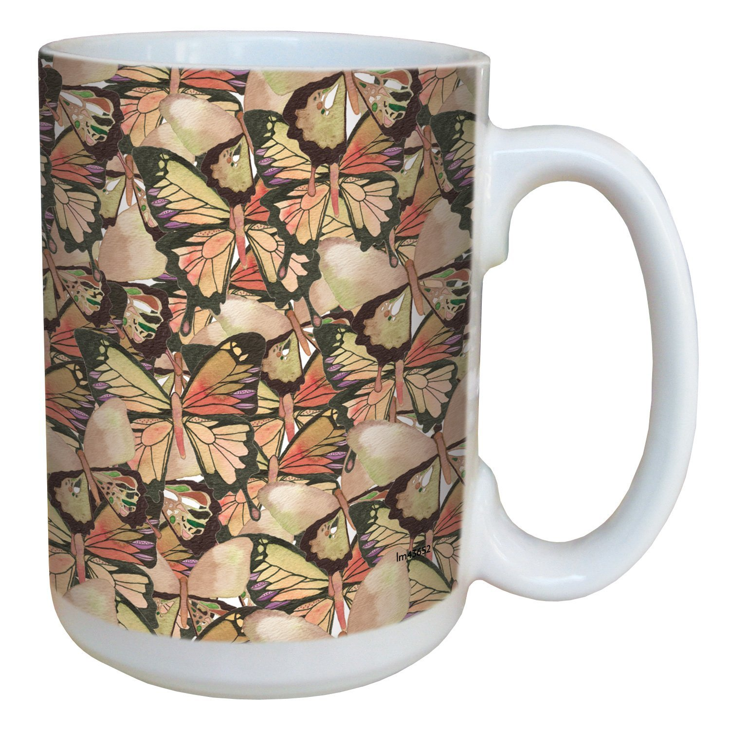 Tree-Free Greetings lm43652 Amazing Butterfly Pattern by Shell Rummel Ceramic Mug with Full-Sized Ha