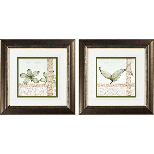 spa renew ii framed art set of 2. Black Bedroom Furniture Sets. Home Design Ideas