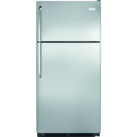 Fftr1814qs 30  Top Freezer Refrigerator With 18 0 Cu  Ft  Capacity  2 Wire Shelves  Humidity Controlled Crisper Drawers  Gallon Door Shelf And Reversible Doors In Stainless Steel