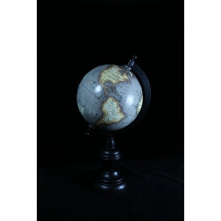 LAMINATED POSTER Pacific Ocean Globe North America Map South America Poster Print 11 x (Map Of North And South America Labeled)